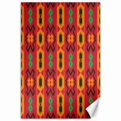 Tribal Shapes In Retro Colors                                 Canvas 12  X 18