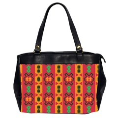 Tribal Shapes In Retro Colors                                 Oversize Office Handbag (2 Sides)