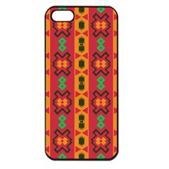 Tribal Shapes In Retro Colors                           Apple Iphone 5 Seamless Case (black)