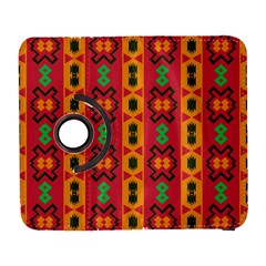 Tribal Shapes In Retro Colors                           Samsung Galaxy Note Ii Flip 360 Case by LalyLauraFLM