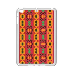 Tribal Shapes In Retro Colors                           Apple Ipad 3/4 Case (white)