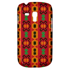 Tribal Shapes In Retro Colors                           Samsung Galaxy Ace Plus S7500 Hardshell Case by LalyLauraFLM