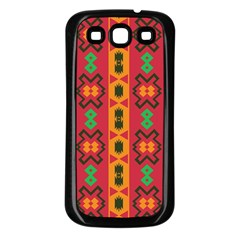 Tribal Shapes In Retro Colors                           Samsung Galaxy S3 Back Case (white)