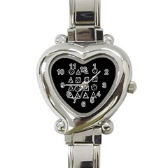 Drawing  Heart Italian Charm Watch