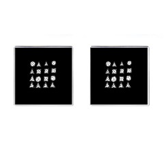 Drawing  Cufflinks (square) by ValentinaDesign