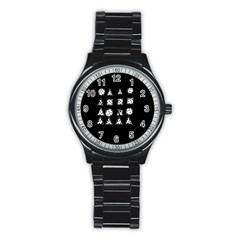Drawing  Stainless Steel Round Watch by ValentinaDesign