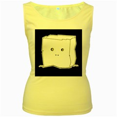 Drawing  Women s Yellow Tank Top