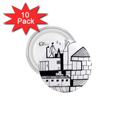 Drawing  1 75  Buttons (10 Pack)