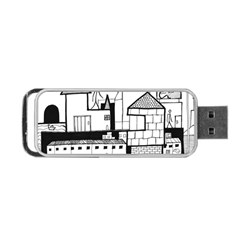 Drawing  Portable Usb Flash (two Sides) by ValentinaDesign