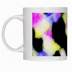 Watercolors Shapes On A Black Background                                  White Mug