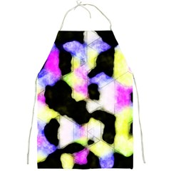 Watercolors Shapes On A Black Background                                  Full Print Apron