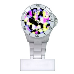 Watercolors Shapes On A Black Background                                  Nurses Watch
