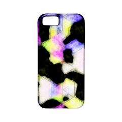 Watercolors Shapes On A Black Background                            Apple Iphone 4/4s Hardshell Case (pc+silicone)