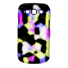 Watercolors Shapes On A Black Background                            Samsung Galaxy S Ii I9100 Hardshell Case (pc+silicone) by LalyLauraFLM
