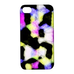 Watercolors Shapes On A Black Background                            Samsung Galaxy S3 Mini I8190 Hardshell Case