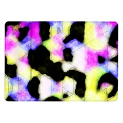 Watercolors Shapes On A Black Background                            Samsung Galaxy Tab 7  P1000 Flip Case