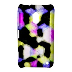 Watercolors Shapes On A Black Background                            Nokia Lumia 720 Hardshell Case