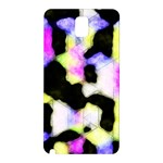 Watercolors shapes on a black background                            Samsung Galaxy Note 10.1 (P600) Hardshell Case Front
