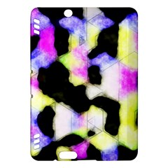 Watercolors Shapes On A Black Background                            Kindle Fire Hd (2013) Hardshell Case