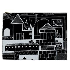 Drawing  Cosmetic Bag (xxl)  by ValentinaDesign