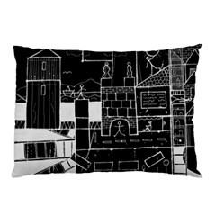 Drawing  Pillow Case (two Sides)