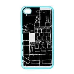Drawing  Apple Iphone 4 Case (color)