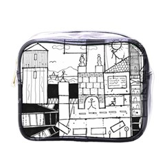 Drawing  Mini Toiletries Bags by ValentinaDesign