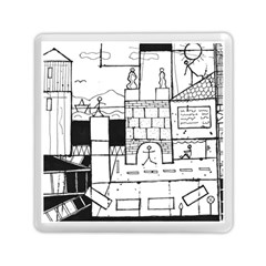 Drawing  Memory Card Reader (square)  by ValentinaDesign
