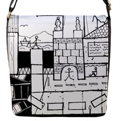 Drawing  Flap Messenger Bag (s)