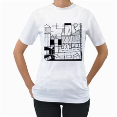 Drawing  Women s T Shirt (white)