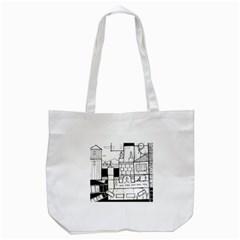 Drawing  Tote Bag (white)
