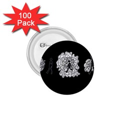 Drawing  1 75  Buttons (100 Pack)
