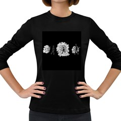 Drawing  Women s Long Sleeve Dark T Shirts
