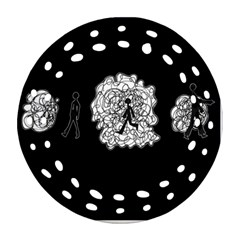 Drawing  Round Filigree Ornament (two Sides)