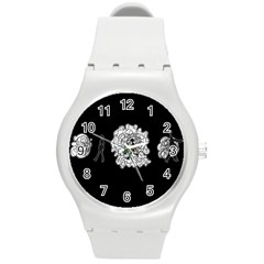 Drawing  Round Plastic Sport Watch (m)