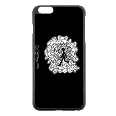 Drawing  Apple Iphone 6 Plus/6s Plus Black Enamel Case