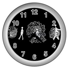 Drawing  Wall Clocks (silver)