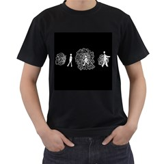 Drawing  Men s T Shirt (black) (two Sided)
