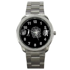 Drawing  Sport Metal Watch
