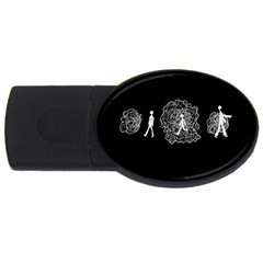 Drawing  Usb Flash Drive Oval (4 Gb)