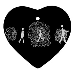 Drawing  Heart Ornament (two Sides)