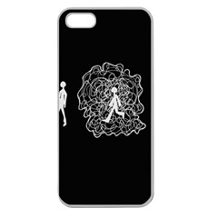 Drawing  Apple Seamless Iphone 5 Case (clear)