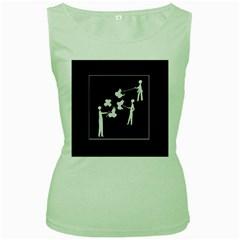 Drawing  Women s Green Tank Top