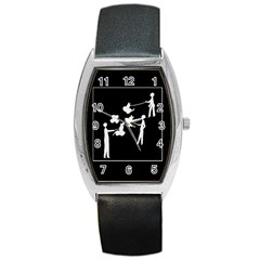 Drawing  Barrel Style Metal Watch