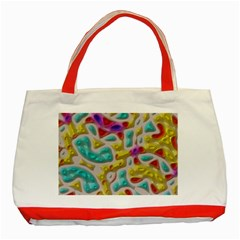 3d Shapes On A Grey Background                                   Classic Tote Bag (red)