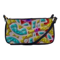 3d Shapes On A Grey Background                                   Shoulder Clutch Bag