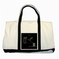 Drawing Two Tone Tote Bag by ValentinaDesign