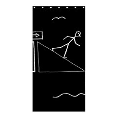 Drawing Shower Curtain 36  X 72  (stall)