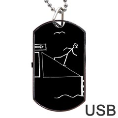 Drawing Dog Tag Usb Flash (one Side)