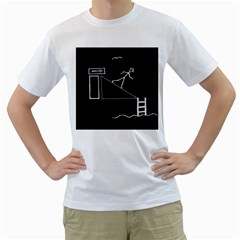Drawing Men s T Shirt (white)